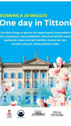 Domenica 20 maggio: One Day in Villa Tittoni