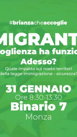 L'accoglienza migranti ha funzionato. E adesso? Appuntamento al 31 gennaio al Binario7