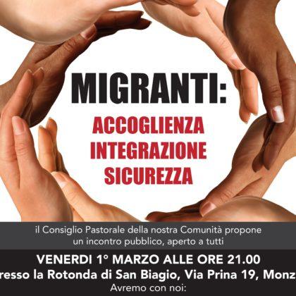 MIGRANTI: accoglienza integrazione e sicurezza