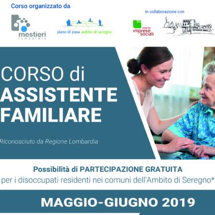 Dal 2 maggio parte il nuovo corso di ASSISTENTE FAMIGLIARE a Giussano!