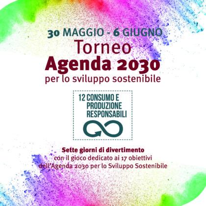 A Parco Tittoni dal 30 maggio al 6 giugno arriva il TORNEO AGENDA 2030!