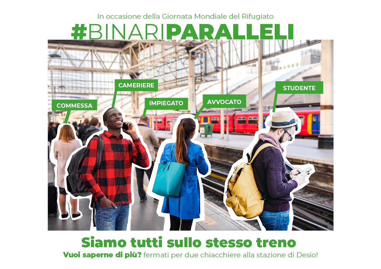 Giornata Mondiale del Rifugiato: gli operatori SPRAR presentano #BinariParalleli