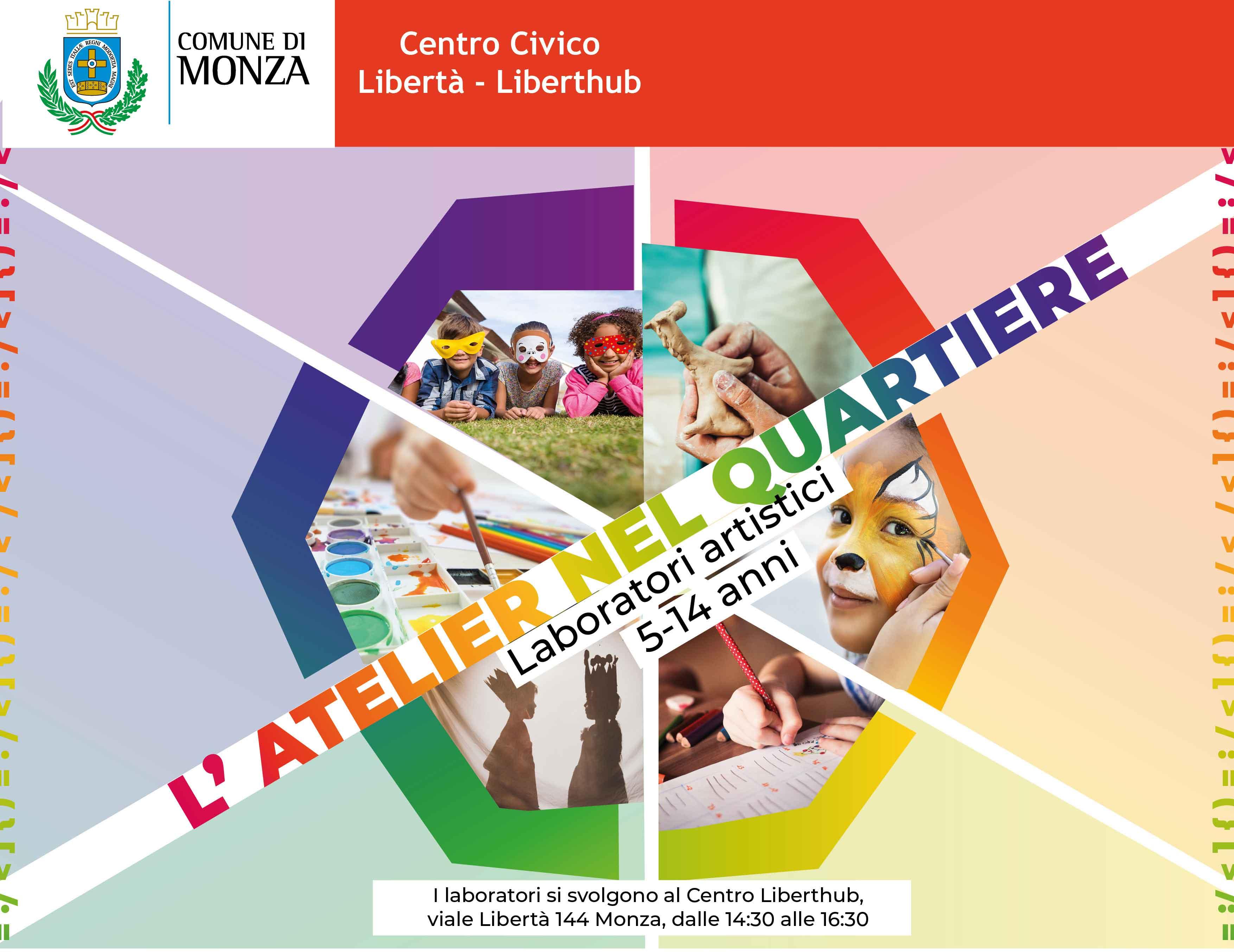 A Monza arriva l'ATELIER NEL QUARTIERE: laboratori artistici gratuiti per bambini e ragazzi!