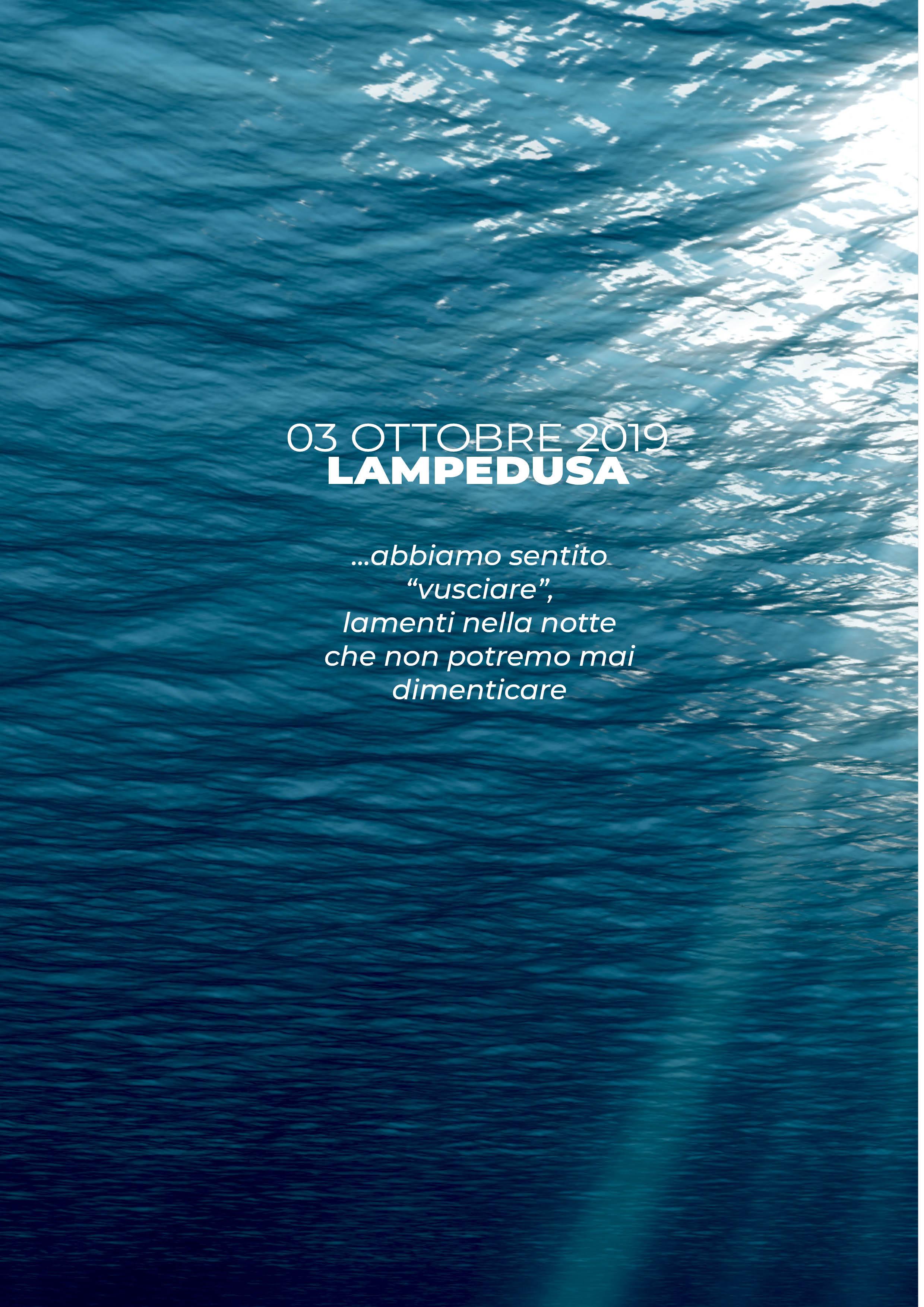 3 ottobre LAMPEDUSA: per non dimenticare