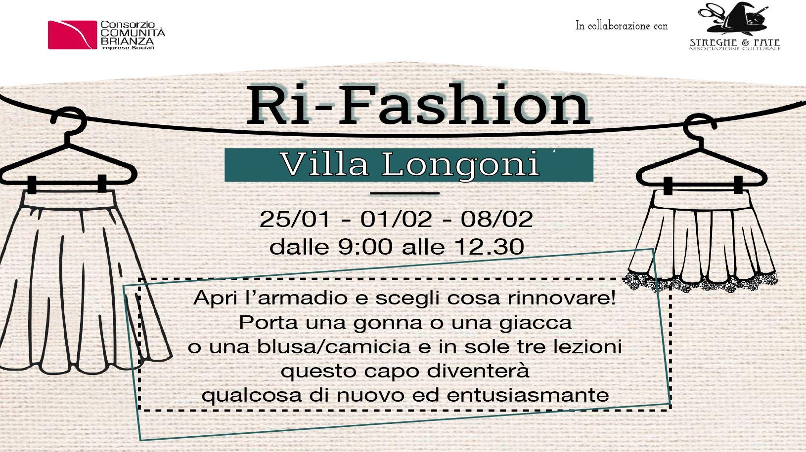 Corsi di ri-fashion a Villa Longoni