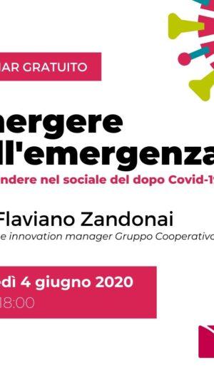 WEBINAR PER IL SOCIALE: EMERGERE DALL'EMERGENZA
