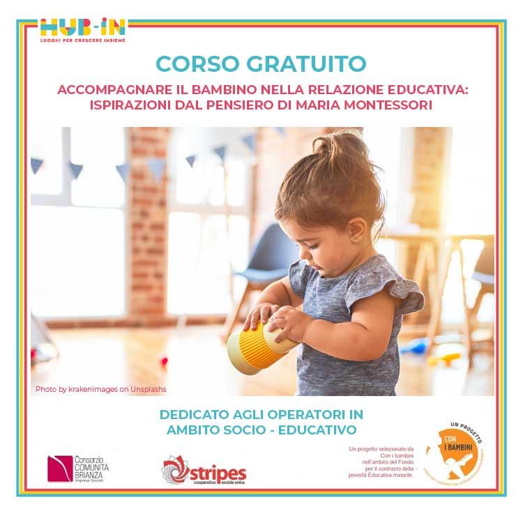 Il pensiero montessoriano: corso online per educatori di nido e materna