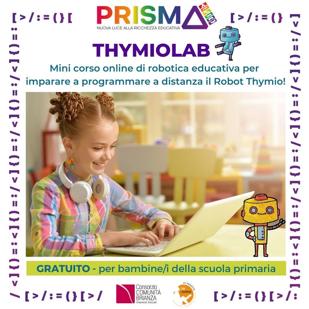 THYMIOLAB: laboratori di robotica educativa ad aprile