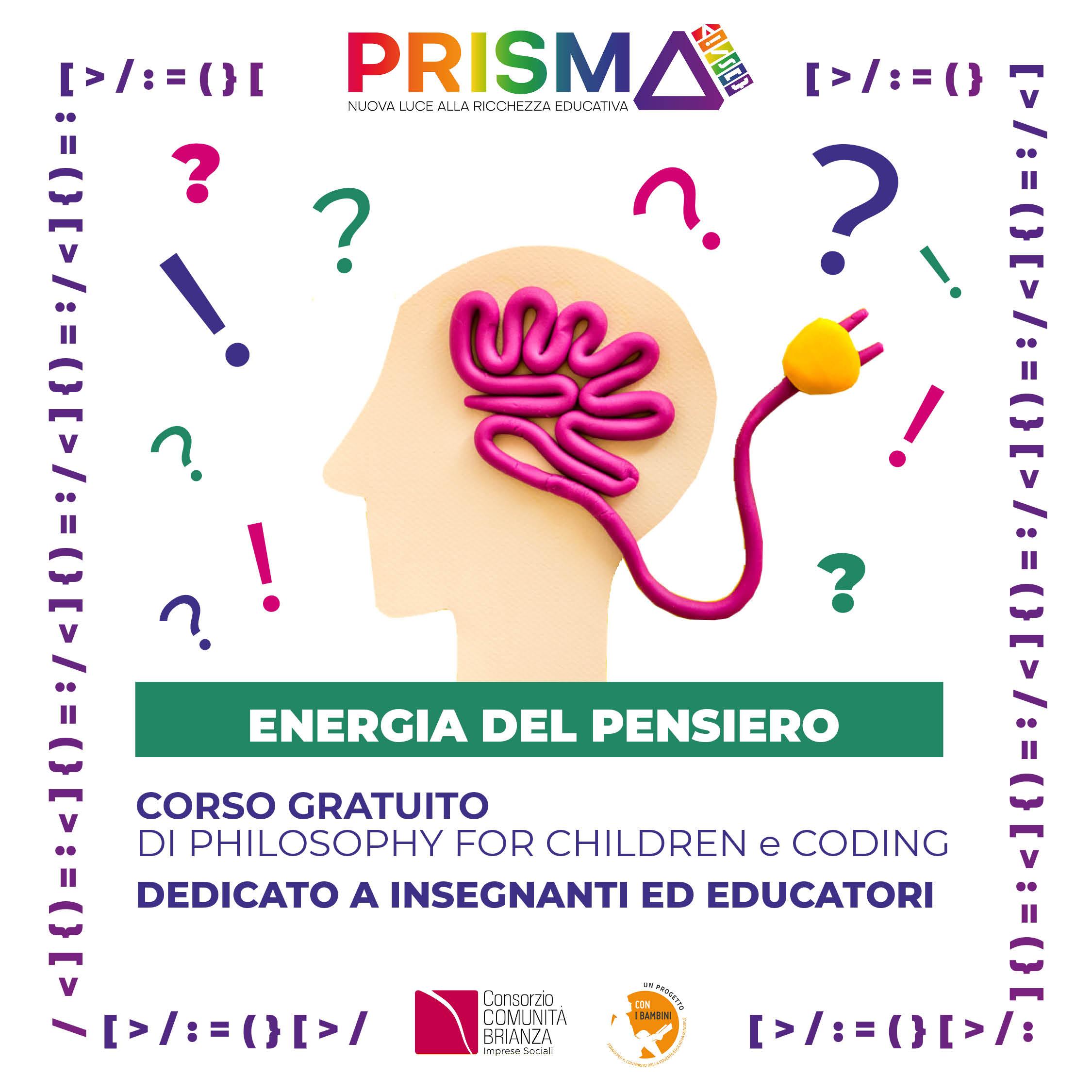 Corso di Coding e Philosophy for Children per educatori e insegnanti